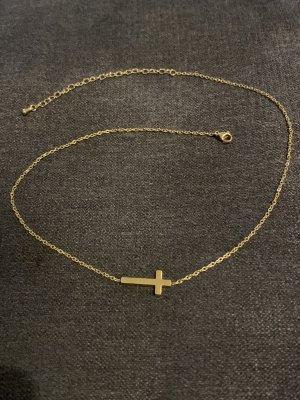 Kette mit Kreuz gold wasserfest
