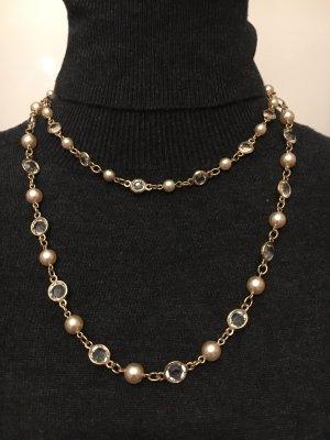 Naszyjnik z perłami Wielokolorowy