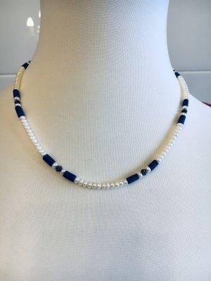 Kette mit Mallorca Perlen und Lapislazuli