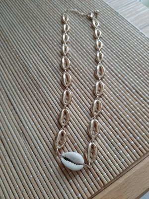 keine Shell Necklace gold-colored-oatmeal