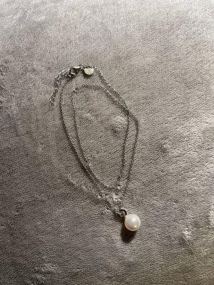 Lia Vie Chaîne en argent argenté-blanc