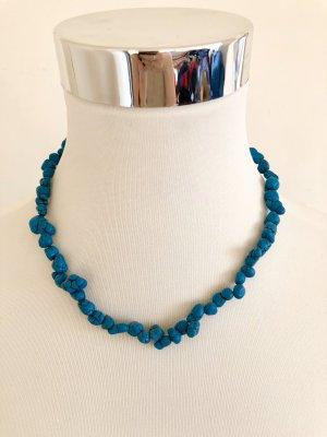 Collar estilo collier turquesa