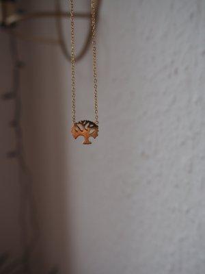 Parfois Necklace gold-colored mixture fibre