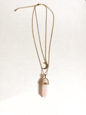 Naszyjnik złoto-różany