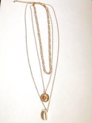 Naszyjnik złoto-kremowy