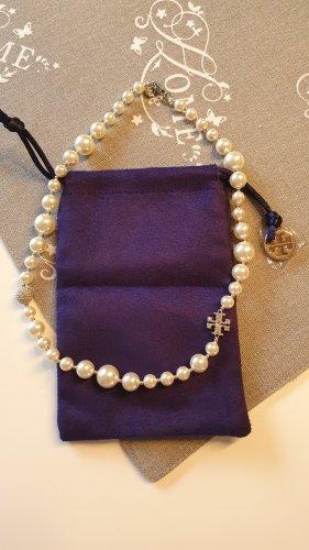Tory Burch Collana di perle bianco-argento