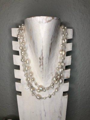 Handmade Collier de perles blanc cassé
