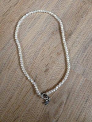 Kette Perlenkette weiß Silber 925