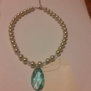 Peter Hahn Collier Necklace white-cornflower blue