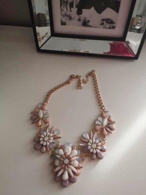 Asos Collier incrusté de pierres rose clair-violet