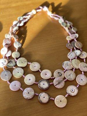 Collar estilo collier rosa-rosa empolvado