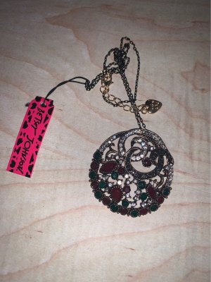 Betsey Johnson Collier Necklace red-green