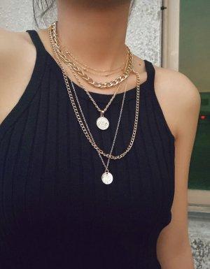 100% Fashion Srebrny łańcuch nude