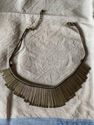 Statement Necklace silver-colored-dark brown
