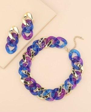 100% Fashion Conjunto de Joyas violeta oscuro