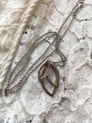 Kette Silber mit Diamant Splitter
