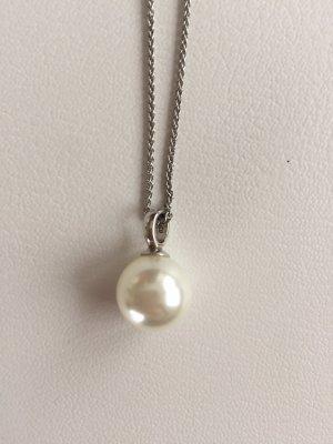 unbekannte Collar de perlas color plata-blanco
