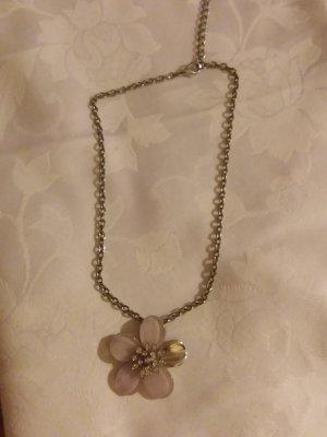 Łańcuch srebrny-stary róż