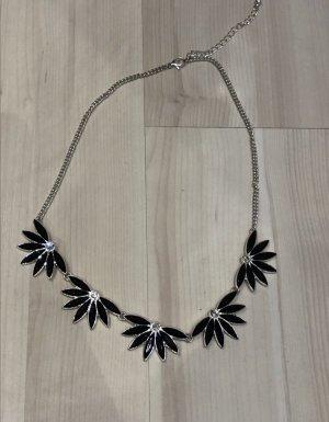 Six Collar negro-color plata
