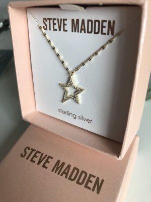 Kette Steve Madden Stern Gold Strass zart