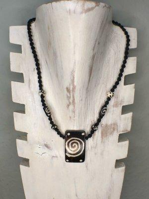 Kette Surferkette Anhänger Yak Bone Spirale 4x2,5 cm Baumwolle gewachst geflochten 42 cm
