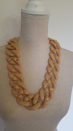 Cinturón de cadena color oro-crema