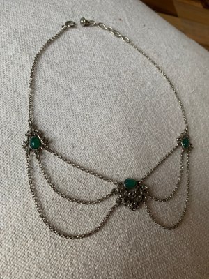 Moser Necklace silver-colored-forest green