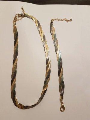 Necklace grey metal