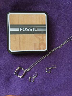 Fossil Collana grigio chiaro