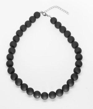 Bijou Brigitte Collier de perles noir tissu mixte