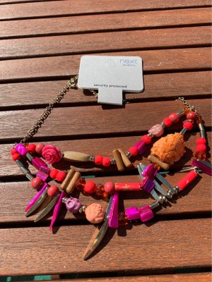 Next Collar estilo collier rosa neón-beige