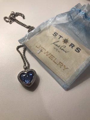 Cadena de plata azul celeste-azul bebé