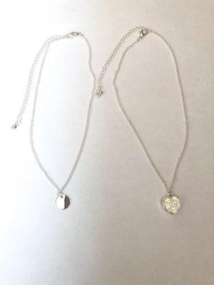 Naszyjnik srebrny-biały