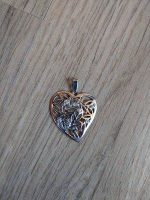 Kettenanhänger Anhänger Silber 925 Herz Steinchen neu