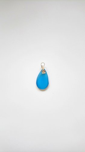 Pendente argento-blu fiordaliso