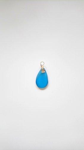 Pendentif argenté-bleuet