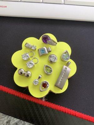 Kettenanhänger Silber mit verschiedenen Steinen
