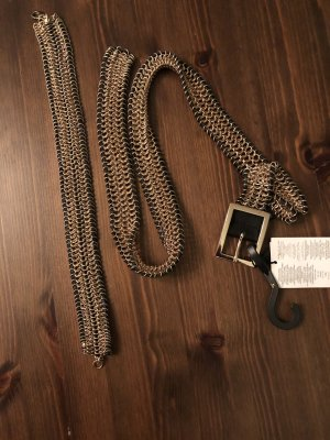 Mango Chain Belt black-gold-colored