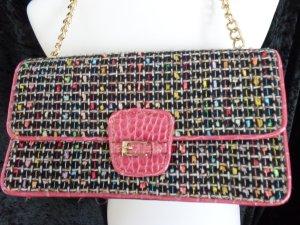 Kettenhenkel-Tasche von Liz Claiborne pink/schwarz