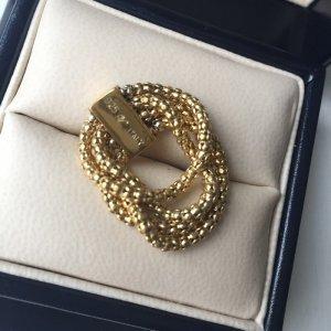 Kettenring Ring 925 silber 18 Karat vergoldet Gr. 18 flexi