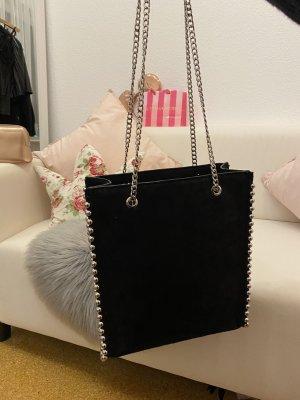 Zara Carry Bag black-silver-colored