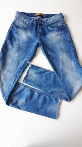 KETU Lage taille broek korenblauw