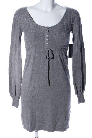 Keus Vestito di lana grigio chiaro puntinato stile casual