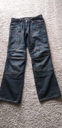 Jeans da motociclista blu