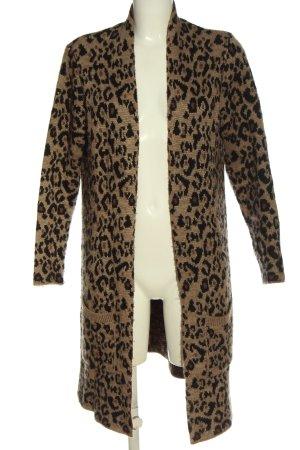 Key Largo Kardigan brązowy-czarny Na całej powierzchni W stylu casual