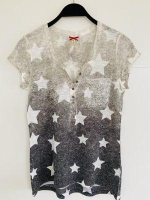 Key Largo Damen T-Shirt Vintage Allover Sterne Print