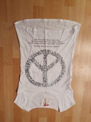 key largo girls Koszulka z nadrukiem biały-srebrny