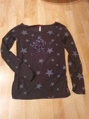 key largo girls Shirt met print zwart-grijs