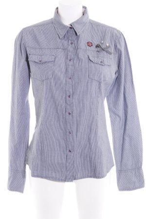 key largo girls Hemd-Bluse graublau-weiß Streifenmuster Business-Look