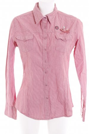 key largo girls Hemd-Bluse hellrot-weiß Streifenmuster Business-Look
